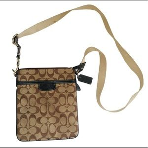 COACH Signature Messenger Bag Tan/Brown One Size